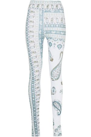 The Upside Woman Fortune Printed Stretch Leggings Mint Size 10