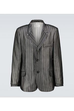 Maison Margiela Melange striped blazer