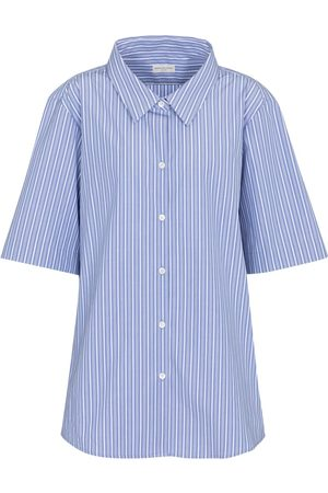 DRIES VAN NOTEN Pinstriped cotton poplin shirt