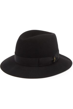 Borsalino Men Hats - Ribbon-trimmed Fedora Hat - Mens