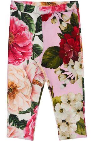 Dolce & Gabbana Printed Cotton Interlock Leggings