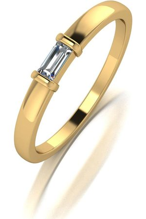 Moissanite Yellow Lady Lyndsey Stacker Ring