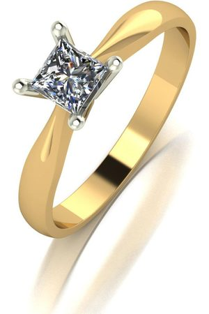 Moissanite 9Ct 0.40Ct Eq Square Brilliant Solitaire Ring