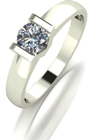 Moissanite 9Ct White 0.50Ct Eq Tension Set Solitaire Ring
