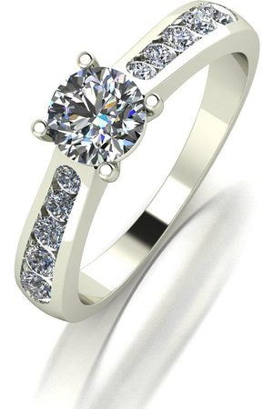 Moissanite 9Ct White 1.00Ctct Total Solitaire Ring