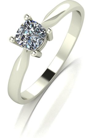 Moissanite 9Ct White 0.50Ct Eq Cushion Cut Solitaire Ring