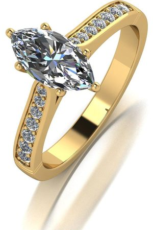 Moissanite Lady Lynsey 9Ct 1.20Ct Total Marquise Solitaire Ring
