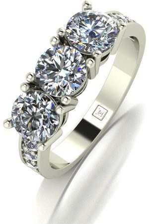 Moissanite Lady Lynsey White 9Ct 2.00Ct Total Trilogy Ring