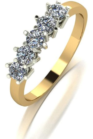Moissanite 9Ct 0.50Ct Total Five Stone Eternity Ring