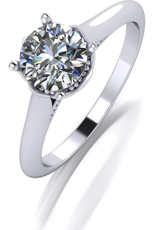 Moissanite Limited Edition Platinum Crown Solitaire Ring Featuring The Queens 70Th Hallmark