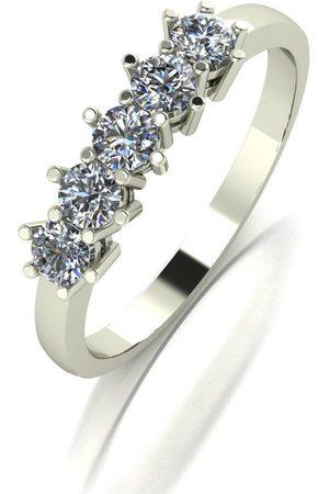 Moissanite 9Ct White 0.50Ct Total Five Stone Eternity Ring