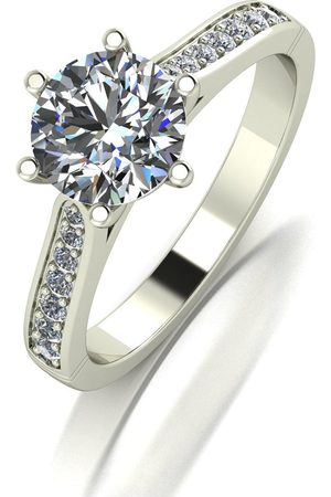 Moissanite Lady Lynsey 9Ct White 1.40Ct Total Solitaire Ring