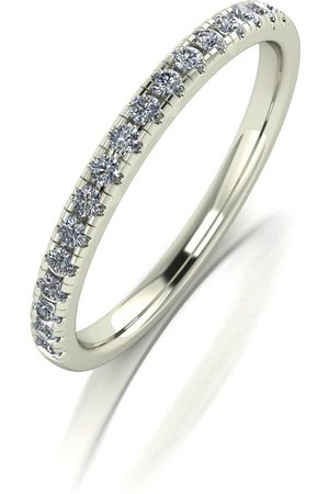 Moissanite White Lady Lyndsey Stacker Ring