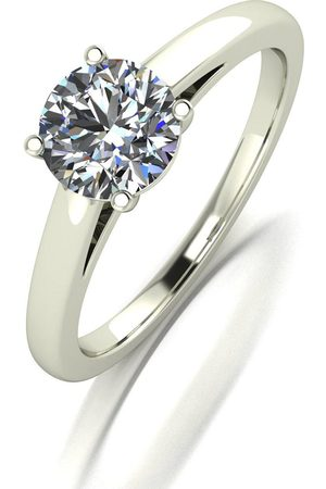 Moissanite Lady Lynsey 9Ct White 1.00Ct Solitaire Ring