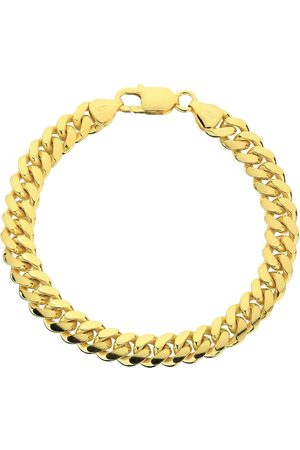 The Love Silver Collection Yellow Gold Plated Silver 8 Inch Large Curb Chain Bracelet