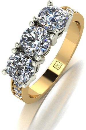 Moissanite Lady Lynsey 9Ct 2.00Ct Total Trilogy Ring