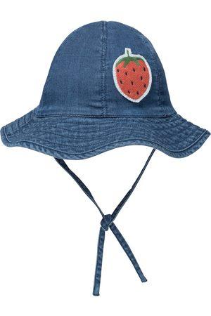 Mini Rodini Strawberry denim bucket hat