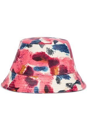 Isabel Marant Haley floral leather bucket hat