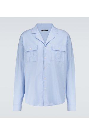 Balmain Camp-collar cotton shirt