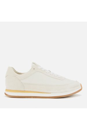 Women Trainers - Clarks Women's Craftrun Lace Suede Running Style Trainers