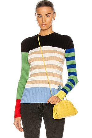 Moncler Genius 1 Moncler JW Anderson Girocollo Tricot Sweater in Colorblock Multi