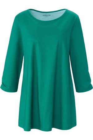 Green Cotton Women Tops - Long top in 100% cotton size: 12