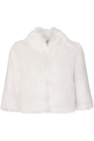 Unreal Fur Desire Cropped Jacket in Ivory