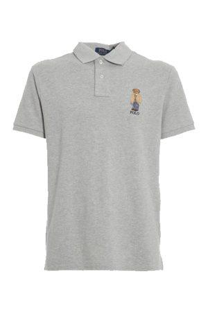 Polo Ralph Lauren Men Polo Shirts - Custom Bear Polo Grey