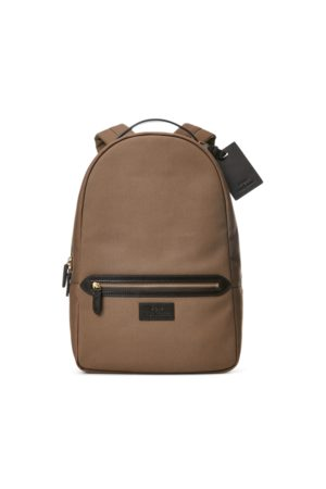 Polo Ralph Lauren Leather-Trim Canvas Backpack