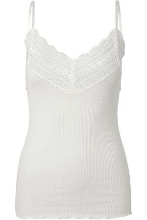 Rosemunde Women Tops - Silk and Lace Strap Top - New White