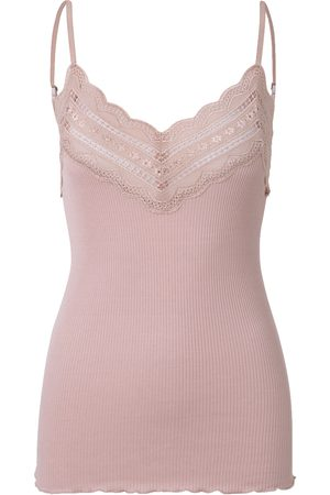 Rosemunde Silk and Lace Strap Top - Zephyr Rose