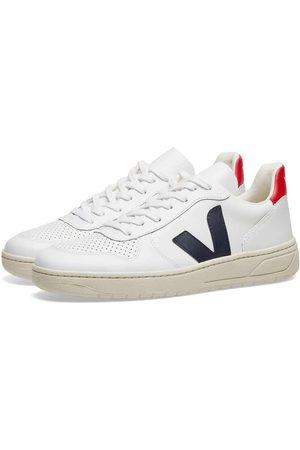 Veja Womens V-10 Leather Sneaker , Red & Navy