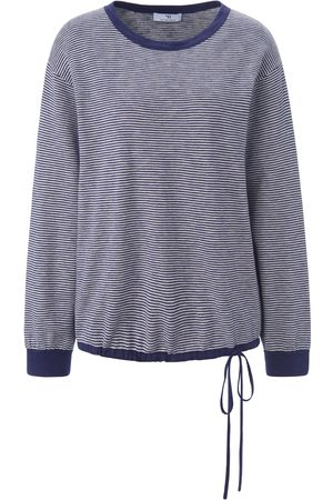 Peter Hahn Women Jumpers - Striped round neck jumper long sleeves size: 10