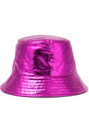 Isabel Marant Haley metallic leather bucket hat