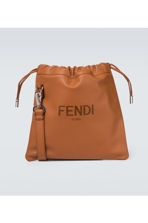 Fendi Small leather drawstring pouch