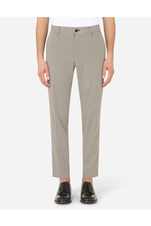 Dolce & Gabbana Men Trousers - Trousers and Shorts - COTTON HOUNDSTOOTH PANTS male 44