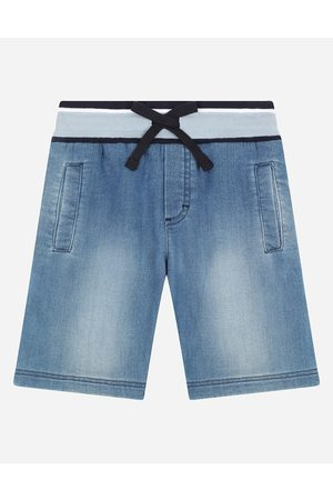 Dolce & Gabbana Boys Trousers - Trousers and Shorts - JERSEY DENIM JOGGING SHORTS male 4