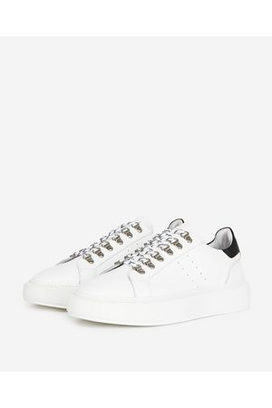 The Kooples Flat white sneakers in leather with eyelets