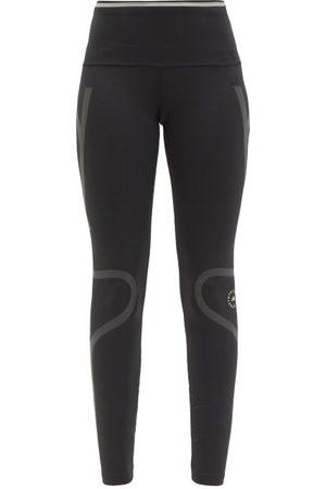 adidas Women Sports Leggings - Truepace Reflective-tape High-rise Jersey Leggings - Womens