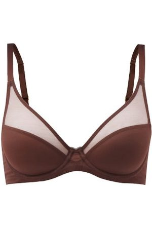 Agent Provocateur Lucky Tulle-panelled Underwired Bra - Womens