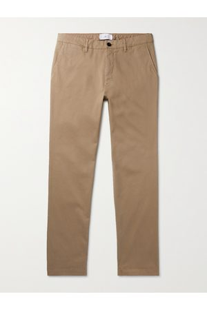 Mr P. Men Skinny Trousers - Slim-Fit Stretch-Cotton Twill Chinos