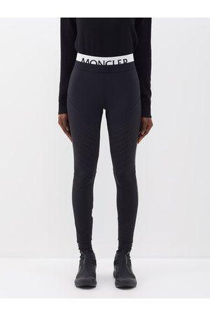 Moncler Logo-waistband Jersey Leggings - Womens