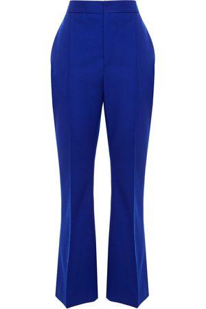 Marni Woman Cropped Wool Bootcut Pants Royal Size 38