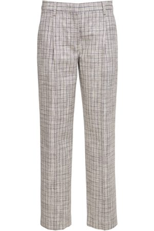 LARDINI Fenice Straight Silk Blend Pants