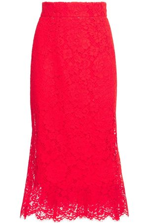 Dolce & Gabbana Women Midi Skirts - Lace Midi Flared Skirt