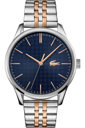 Lacoste Blue And Rose Gold Detail Dial Two Tone Stainless Steel Bracelet Watch
