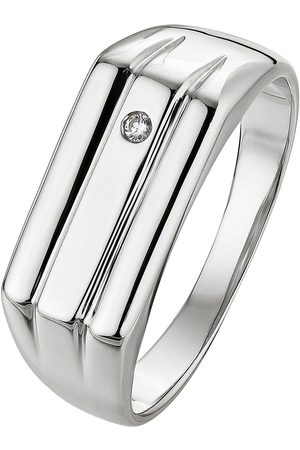 The Love Silver Collection Sterling And Diamond Signet Ring