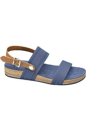 Bench Women Sandals - Navy Blue Footbed Sandals
