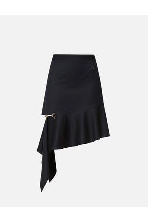 Evisu Asymmetric Drape Skirt