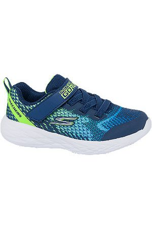 Skechers Boys Trainers - Toddler Boys Go Run Blue Touch Strap Trainers